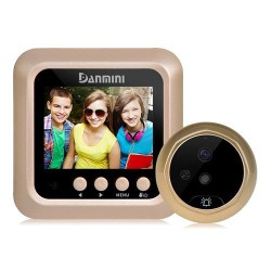 Danmini W5 Security Door Bell 2.4inch Digital Color Screen No Disturb Peephole Viewer 2MP Video RecorderDanmini W5 Security Door Bell 2.4inch Digital Color Screen No Disturb Peephole Viewer 2MP Video Recorder<br>