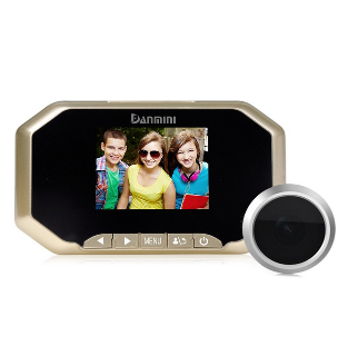 Danmini YB-35BHD peephole 3.5 inch Color screen viewfinder 32 GB 160 degree wide angle security cameraDanmini YB-35BHD peephole 3.5 inch Color screen viewfinder 32 GB 160 degree wide angle security camera<br>