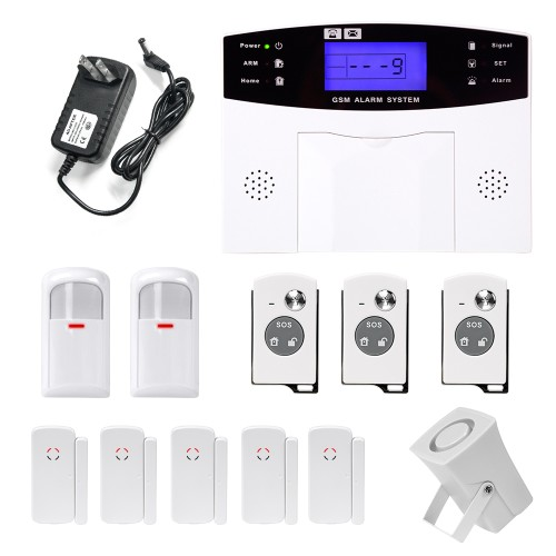 YA-500-GSM-21 LCD Wireless GSM Autodial SMS Home House Office Security Burglar Alarm SystemYA-500-GSM-21 LCD Wireless GSM Autodial SMS Home House Office Security Burglar Alarm System<br>
