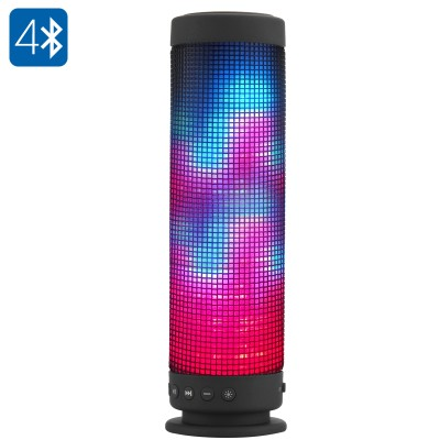 Vaki Portable Bluetooth 4.0 Speaker 10 Watt with 88 LEDs 5 Lighting Functions 2300mAhVaki Portable Bluetooth 4.0 Speaker 10 Watt with 88 LEDs 5 Lighting Functions 2300mAh<br>