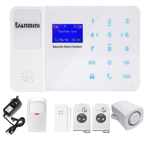 Danmini YA-800-GSM Alarm System Wireless Remote Control IR Sensor LCD Touch Screen Home Security GSMDanmini YA-800-GSM Alarm System Wireless Remote Control IR Sensor LCD Touch Screen Home Security GSM<br>