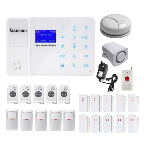 DANMINI YA-800-GSM-23 LCD Screen Wireless Mobile Phone Security GSM Alarm SystemDANMINI YA-800-GSM-23 LCD Screen Wireless Mobile Phone Security GSM Alarm System<br>