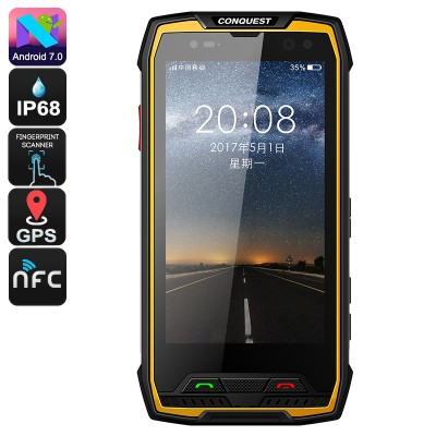 Conquest S11 MT6757 Octa Core 6GB RAM 64GB ROM Android 7.0 Rugged Phone Walk TalkieConquest S11 MT6757 Octa Core 6GB RAM 64GB ROM Android 7.0 Rugged Phone Walk Talkie<br>
