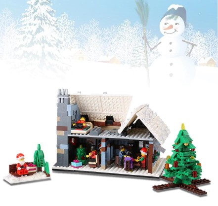 JJRC 936PCS Christmas Brick Blocks Kit with an Assembly Tool DIY Christmas Village Cute Christmas DecorationJJRC 936PCS Christmas Brick Blocks Kit with an Assembly Tool DIY Christmas Village Cute Christmas Decoration<br>