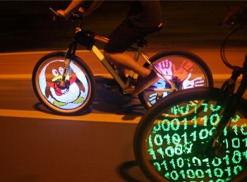 YQ8003 26 inch DIY Programmable LED Bicycle Wheel LightYQ8003 26 inch DIY Programmable LED Bicycle Wheel Light<br>