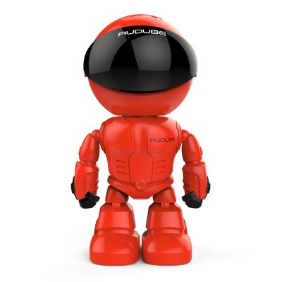 Red Wireless Robot IP Camera 960P with 1.3MP CMOS SensorRed Wireless Robot IP Camera 960P with 1.3MP CMOS Sensor<br>