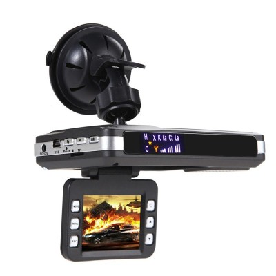 Russian Y100 3 in 1 Car DVR GPS Record Radar Laser Speed Detector with 2 inch LED DisplayRussian Y100 3 in 1 Car DVR GPS Record Radar Laser Speed Detector with 2 inch LED Display<br>