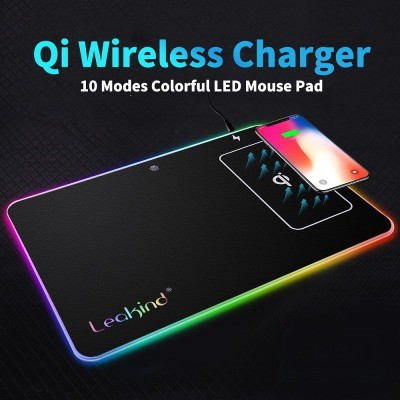10W Qi Wireless Charger LED Gaming Mouse Pad10W Qi Wireless Charger LED Gaming Mouse Pad<br>