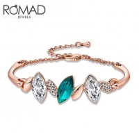 ROMAD Fashion Rose Gold Plated Alloy Chain Bracelet with ZirconROMAD Fashion Rose Gold Plated Alloy Chain Bracelet with Zircon<br>