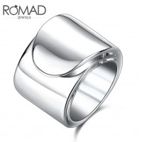 ROMAD Fashion Simple Style New Plated Alloy Womens Ring Silver ColorROMAD Fashion Simple Style New Plated Alloy Womens Ring Silver Color<br>