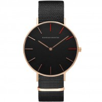 Fashion Ultra Thin BusinessQuartz Couple's Watch with Nylon Band