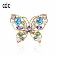 genuine the element crystal brooch Korean butterfly female fashion jewelry