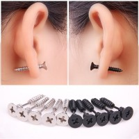 Fashion Stainless Steel Whole Screw Stud Earring Unisex Earrings