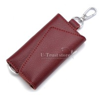Women Multifunction Coin Purse Card Wallet W/ Electronic Keys Hanging