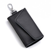 New Arrival Genuine Leather Men Car Key Holder Women Multifunction Coin Purse Card Wallet W/ Electronic Keys Hanging