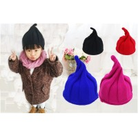 Winter hat Korean version of the lovely warm wool knit cap steeple adult and children version
