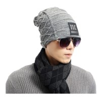 Double-knit wool cap warm winter plus thick velvet jacket outdoor NC headgear