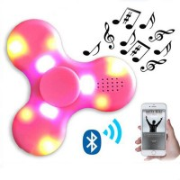 Wireless Bluetooth speaker With Colorful fidget spinner glow in the dark toy Rotating Sound MP3 Speakers Fingertip gyro gift