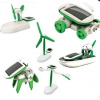 Creative DIY 6 IN 1 Educational Learning Power Solar Robot Kit Children Kids Toy