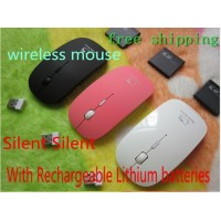 pcs Optical 2.4GHz wireless mouse kitty cartoon mouse For PC Laptop/desktop DPI adjustable +Rechargeable battery+by SG post
