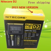 2015 New Nitecore D2 Digcharger charger IMR/Lifepo4/NiMh/NiCd AA AAA CR123A 16340.18650. LCD Display Universal Nitecore Charger