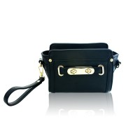 ladies messenger shoulder bags with metal buckle