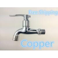 1/2 thick single cold washing machine faucet whole spool of copper quick opening faucet mop pool faucet fitting extension