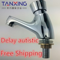 All copper single cold hand push button Delay faucet basin washbasin taps in public places