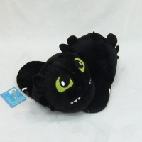 Unisex How to train your Dragon toothless Plush warm Slippers NightFury Black Dragon toy gift Cosplay