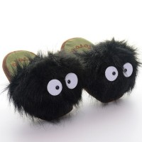 Animal Totoro Dust Ball Plush Mocasines Home Indoor Warm Slippers Winter CosPLAY Gift