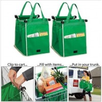 supermarket shopping Grab Bag Multifunctional Nonwoven fabric green Environmental shopping bags