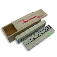 Wooden box high quality domino 28 PCS Toy game table game toys for children and adults learning & education board game