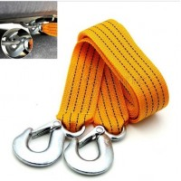 Free Shipping New 3 Tons Car Tow Rope Cable Towing Strap with Hooks Emergency Heavy Duty 3M
