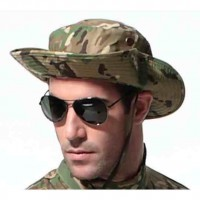 Camouflage Hat Summer Fishing Sun Hat UV Protection Outdoor Boonie Hat