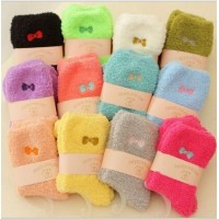 HOT 6Pairs Random CANDY COLORS Women's Soft Fuzzy Ladies Winter WARM Socks