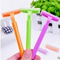 Free Shipping + good legs female armpit shaving razor knife blade rake type shaving pubic hair shaving knife Ms