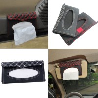 Two colors Vehicle Tissue Box / sunshade board type tissue box / car hanging sunshade board storage bag Malfunction tissue box