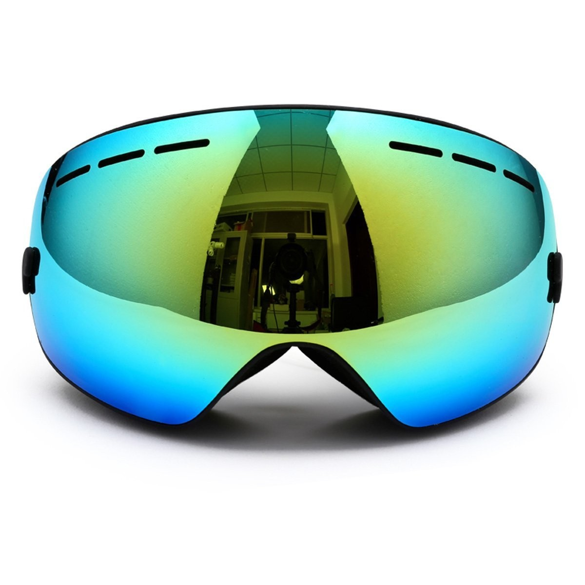 snowboarding glasses  Snowboarding Goggles,Snow Ski Frameless Glasses Mirrored OTG Anti ...