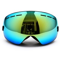 Snowboarding Goggles,Snow Ski Frameless Glasses Mirrored OTG Anti-Fog with Spherical Lens Double Layer Skiing Goggles UV400 Protective TPU Frame Full Venting For Men And Women