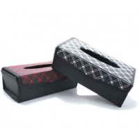 Auto Parts Auto supplies foldable luxury car tissue box Vehicle seat type removable tissue box