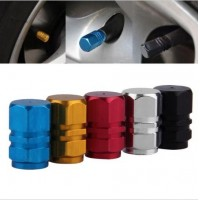 New 4pcs/pack Theftproof Aluminum Car Wheel Tire Valves Tyre Stem Air Caps Airtight Cover red color hot selling