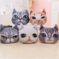 cartoon simulation of 3 d cat star people plush toys pillow warmer hand