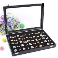 Slots Ring Storage Earring Ear Pin Display Box Jewelry Organizer Holder Case