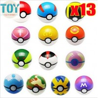 New 13pcs Pokemon Ball Toys Super Master Pokeball Cosplay Pop-up Poke Ball Shell Mini Classic Anime Model Kids Gift Collections