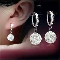 free shipping Pear s925 Shambhala full diamond earrings sexy women dangler