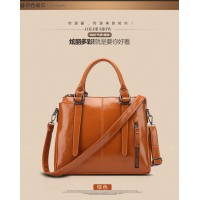 Autumn and winter 2016 new Korean women leather handbag large-capacity portable shoulder bag big bag influx of casual simplicity Messenger