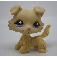 #1194 Littlest Pet Shop collie dog puppy blue eyes LPS