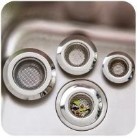 2Pcs Kitchen Sink Strainers Stainless Steel Basket Drain Protector Stopper Plug