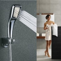 High Pressure Rain Shower Head Bathroom Water Saving Stainless Steel Chrome