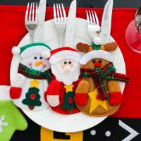 2pcs Xmas Decoration Kitchen Tableware Holder Pocket Dinner Cutlery Bag 3 Type